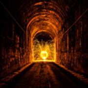 Tunnel Sparks Art Print