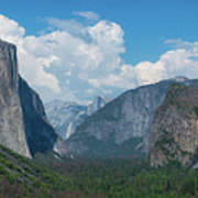 Tunnel View In Yosemite  Art Print