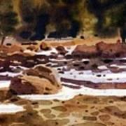 Tuolumne River Freeze Art Print