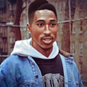 Tupac Shakur Drawing Art Print