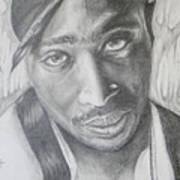 Tupac Shakur II Art Print by Stephen Sookoo