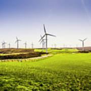 Turbine Fields Art Print