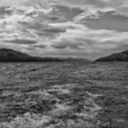 Turbulent Loch Ness In Monochrome 2 Art Print