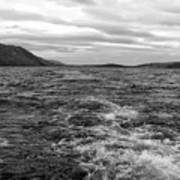 Turbulent Loch Ness In Monochrome Art Print