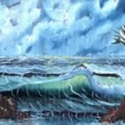 Turbulent Sea Art Print