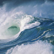 Turbulent Shorebreak Art Print