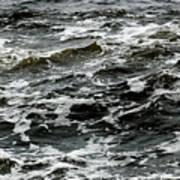 Turbulent Water Near The Shore Art Print