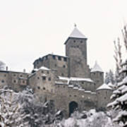 Tures Castle In The Snow Art Print