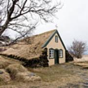 Turf Church At Hof In Iceland Art Print