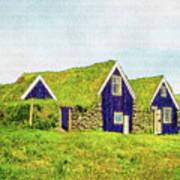 Turf Huts In Skaftafell Art Print