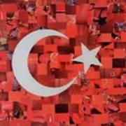 Turkey Flag Art Print