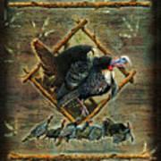 Turkey Lodge Art Print by JQ Licensing