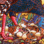 Turkeys Art Print by Nadi Spencer