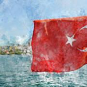 Turkish Flag Art Print