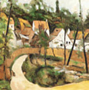 Turn In The Road Reproduction Of Cezannes Work. Art Print