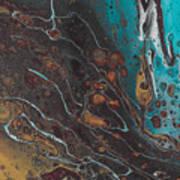 Turq's And Carnelian Art Print