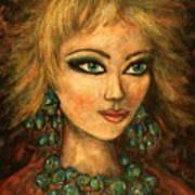 Turquoise Eyes Art Print