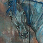 Turquoise Horse Art Print