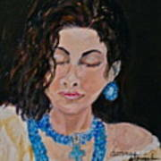 Turquoise Lady 1 Art Print