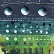 Turquoise Moons Art Print