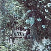 Turquoise Muted Garden Respite Art Print