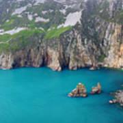 turquoise sea at Slieve League cliffs Ireland Art Print