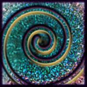 Turquoise Spiral Art Print