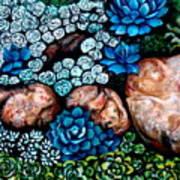 Turquoise Stone Art Print