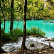 Turquoise Waters Of Milanovac Lake Art Print