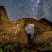 Turret Arch Milkyway, Arches National Park, Utah Art Print