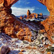 Turret Arch Through North Window Arches National Park Utah Art Print