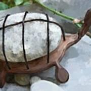 Turtle Full Of Rocks Art Print