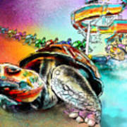 Turtle Slide Art Print