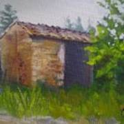 Tuscan Abandoned Farm Shed Art Print
