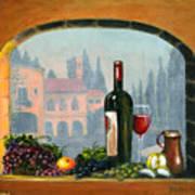 Tuscan Arch Wine Grape Feast Print by Italian Art