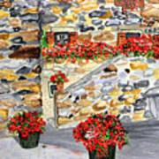 Tuscan Courtyard I Art Print
