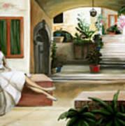 Tuscan Courtyard Art Print