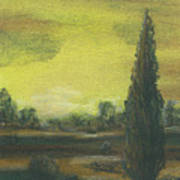 Tuscan Dusk 1 Art Print