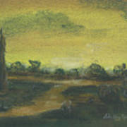 Tuscan Dusk 2 Print by Shelby Kube