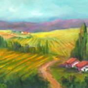 Tuscan Fields Art Print
