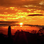 Tuscan Sunset Art Print