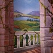 Tuscan Terrace  Art Print