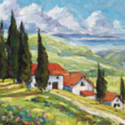 Tuscan Villas Art Print