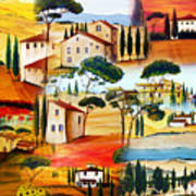 Tuscany Collage Art Print