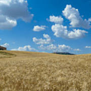 Tuscany Landscape With The Town Of Pienza, Val D'orcia, Italy Art Print