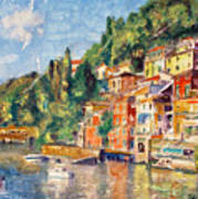 Tuscany On The Lake Art Print