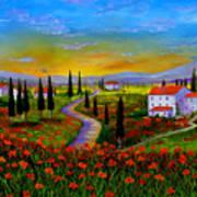 Tuscany Sunset Art Print