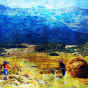 Tusheti Hay Makers I Art Print