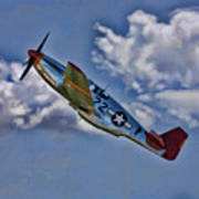 Tuskegee Mustang Red Tail Art Print