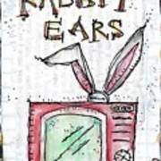 Tv And Rabbit Ears Art Print